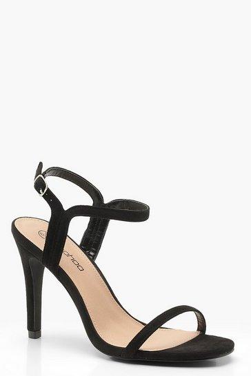 Black Wide Fit 2 Part Heels