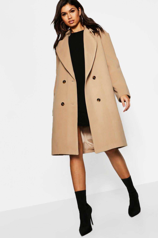 Boohoo Manteau effet laine à col oversize