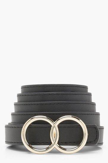 Black Double Ring Boyfriend Belt