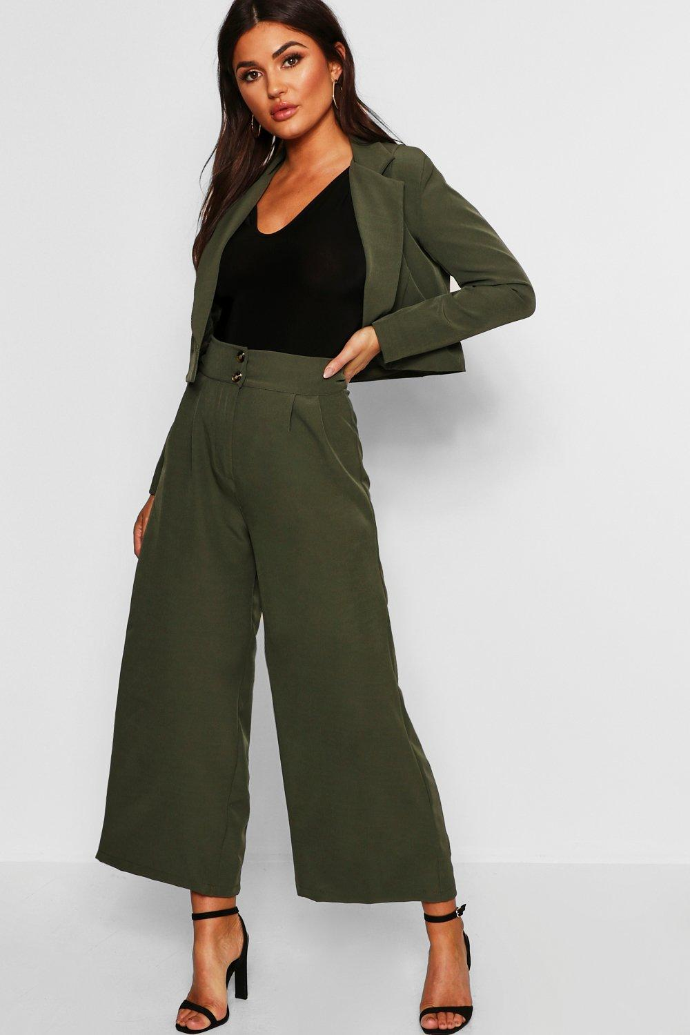 Купить Брюки, High Waist Wide Leg Trouser, boohoo