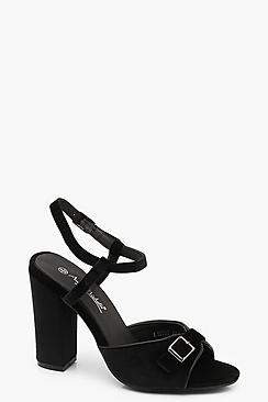 Buckle Detail Block Heels