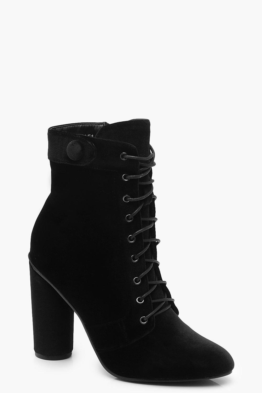 Купить Boots, из бархата Сапоги Обувь на шнуровке, boohoo