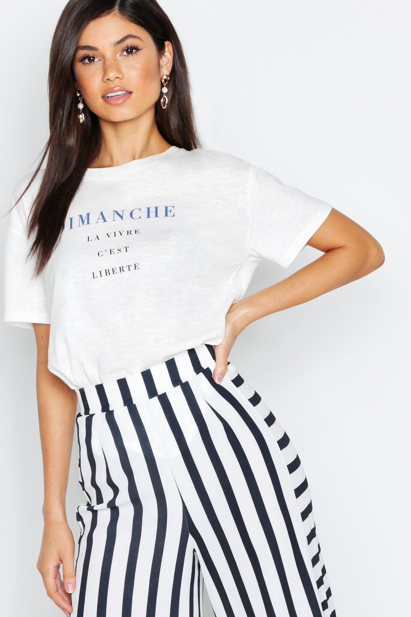 Womens Meliertes Oversized T-Shirt aus Flammengarn mit Slogan - elfenbeinfarben - S, Elfenbeinfarben - Boohoo.com