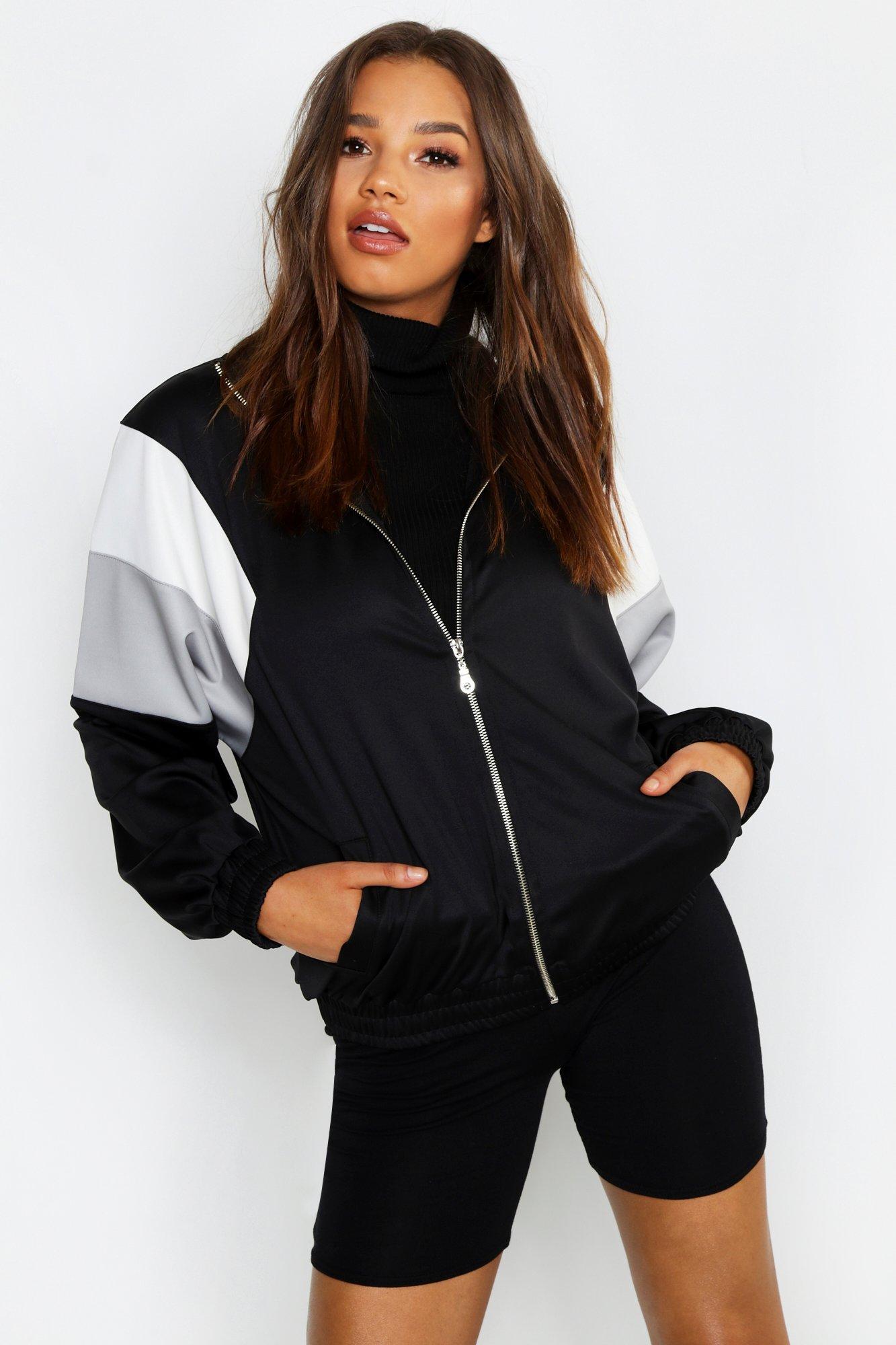 Купить Athleisure, Куртка на молнии с цветными вставками, boohoo