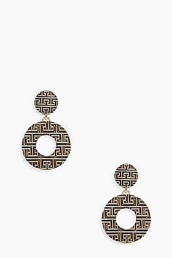 Orecchini a cerchio astratto a contrasto