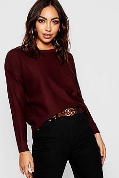 Pullover in maglia con cerniera sul retro
