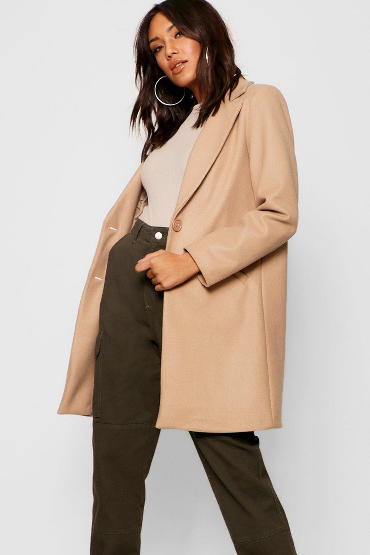 Купить Coats & Jackets, приталенное пальто с эффектом шерстяной ткани в стиле <бойфренд>, boohoo