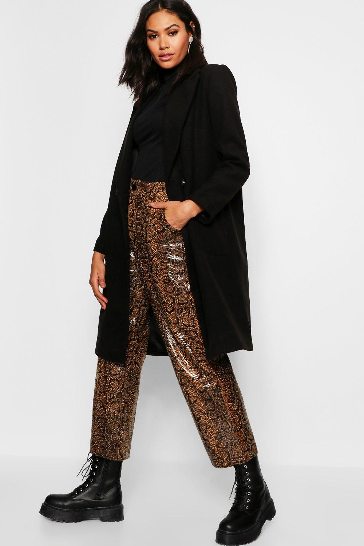 Купить Coats & Jackets, Double Breasted Pocket Wool Look Coat, boohoo