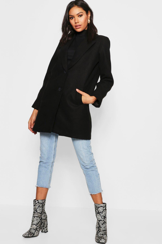 Купить Coats & Jackets, Relaxed Boyfriend Wool Look Coat, boohoo