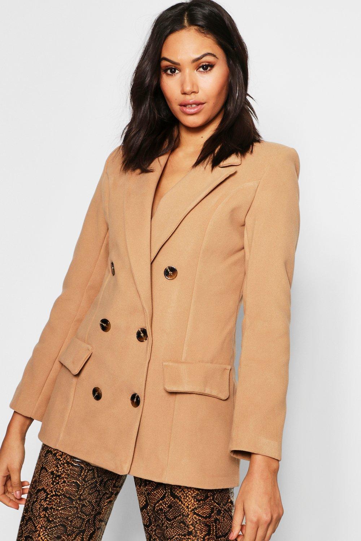Купить Coats & Jackets, Double Breasted Wool Look Blazer, boohoo
