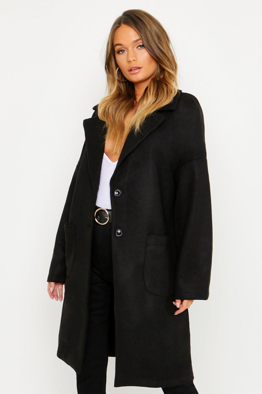 Купить Coats & Jackets, Pocket Detail Wool Look Coat, boohoo