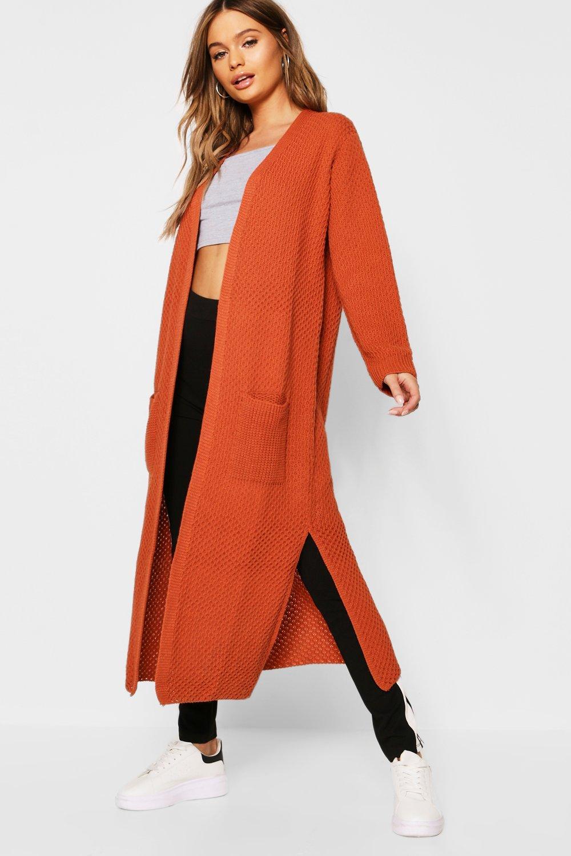 Купить Knitwear, Knitted Maxi Edge To Edge Cardigan, boohoo