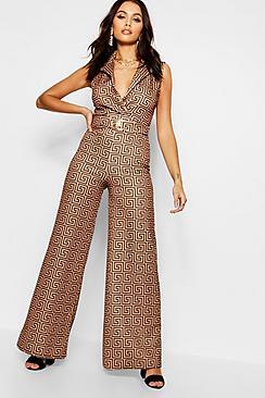 Coordinato con pantaloni a motivi geometrici