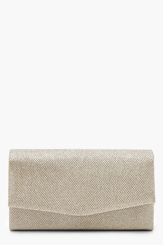 Купить Сумки, Структурированный клатч-конверт с блестками и цепочкой, boohoo
