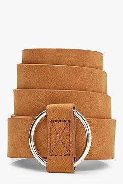 Circle Buckle Thread Through Belt
