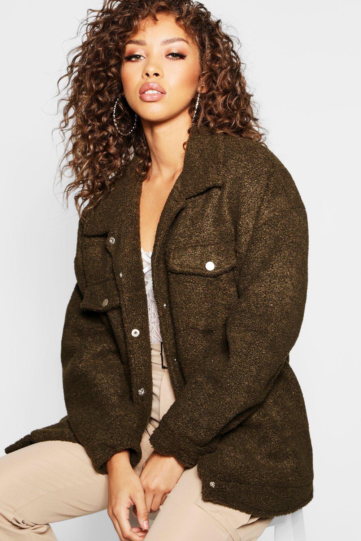 Купить Coats & Jackets, Джинсовая куртка из плюша, boohoo