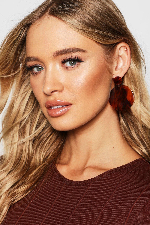 Marble Resin Double Circle Earrings