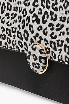 Colour Pop Leopard Flap Clutch