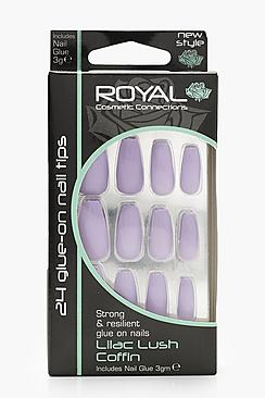 24 Lilac Lush Coffin Nails