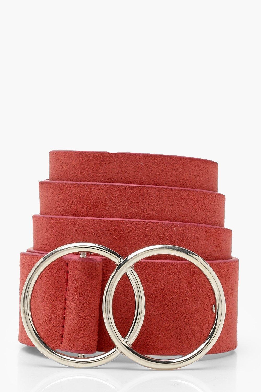 Купить Belts, Ремень в стиле <бойфренд> из ткани под замшу с двойной пряжкой, boohoo