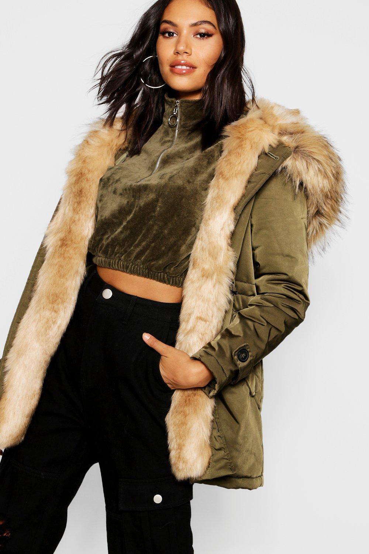 Купить Coats & Jackets, Парка Boutique из искусственного меха, boohoo