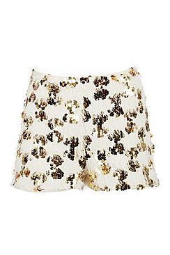 Tassel Disc Sequin Shorts