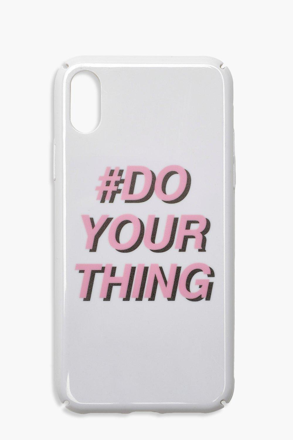 Купить Gifts, Чехол для iPhone X с надписью Do Your Thing, boohoo