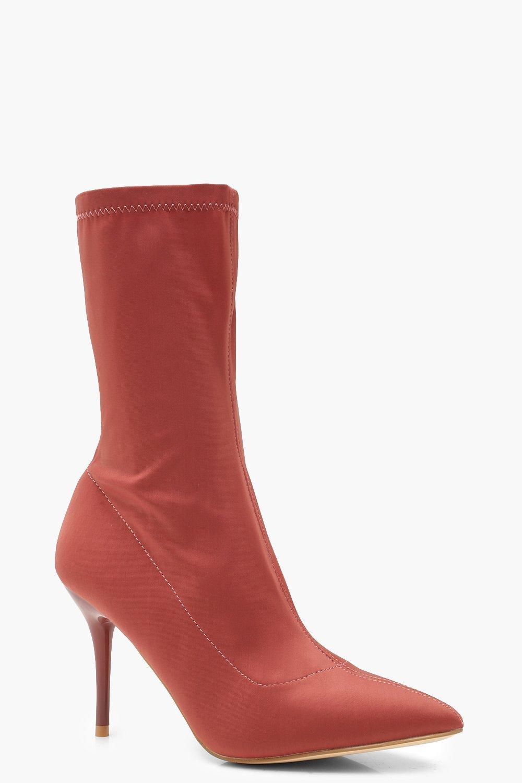 Купить Boots, Сапоги-носки на низком каблуке, boohoo