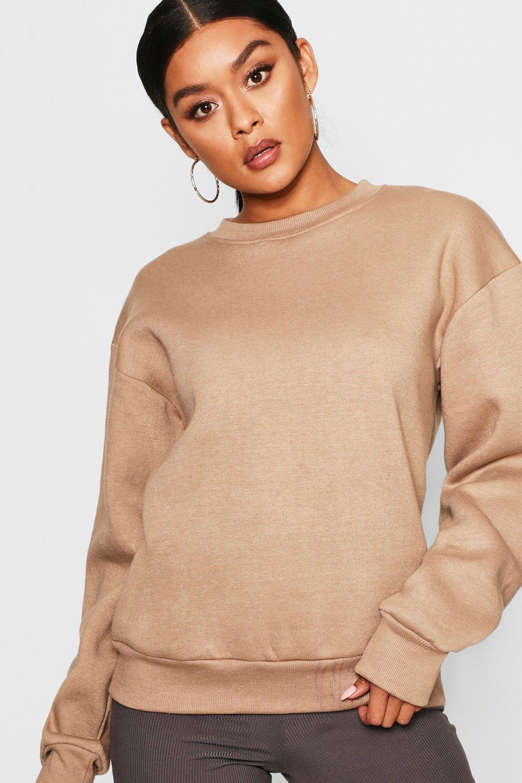 Womens Übergroßes Sweatshirt - stone - 34, Stone - Boohoo.com