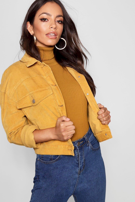 Купить Coats & Jackets, Объемная куртка с карманами горчичного цвета, boohoo