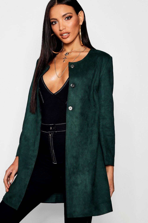 Купить Coats & Jackets, Кардиган из ткани под замшу, boohoo