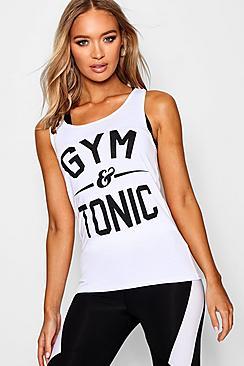 Canottiera Fit Gym & Tonic