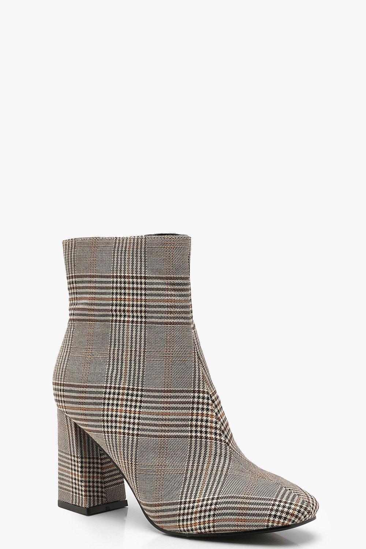 Купить Boots, Сапоги для обуви с квадратным мыском в клетку, boohoo