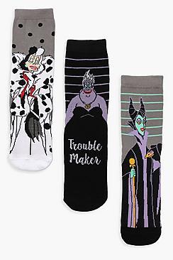 3 calzini alla caviglia cattivo Disney