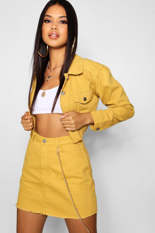 Купить Coats & Jackets, Джинсовая куртка горчичного цвета, boohoo