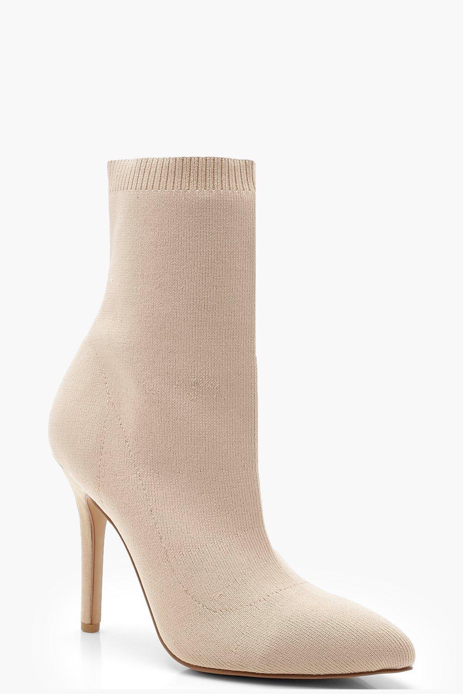 Купить Boots, Вязаные сапоги-носки с острым мыском, boohoo