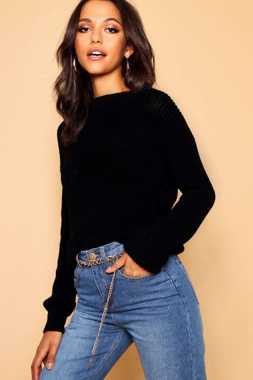 Womens Oversized-Pullover - schwarz - XL, Schwarz - Boohoo.com