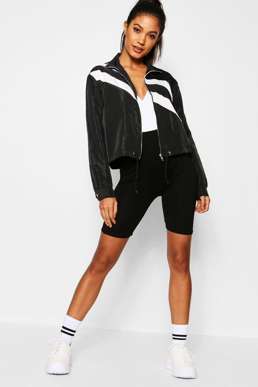 Купить Coats & Jackets, Ветровка в полоску со вставками, boohoo