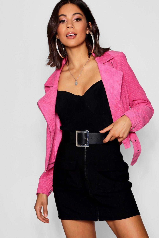 Купить Coats & Jackets, Куртка косуха из вельвета, boohoo