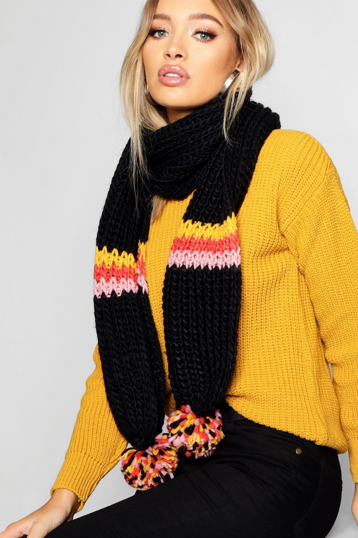Купить Winter Soft, Вязаный шарф в цветную полоску, boohoo