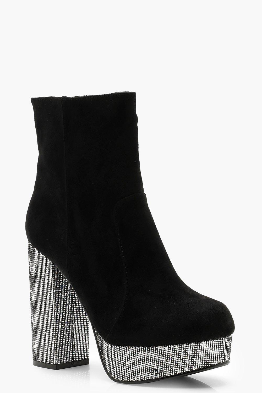 Купить Boots, Сапоги на платформе в стиле диско, boohoo