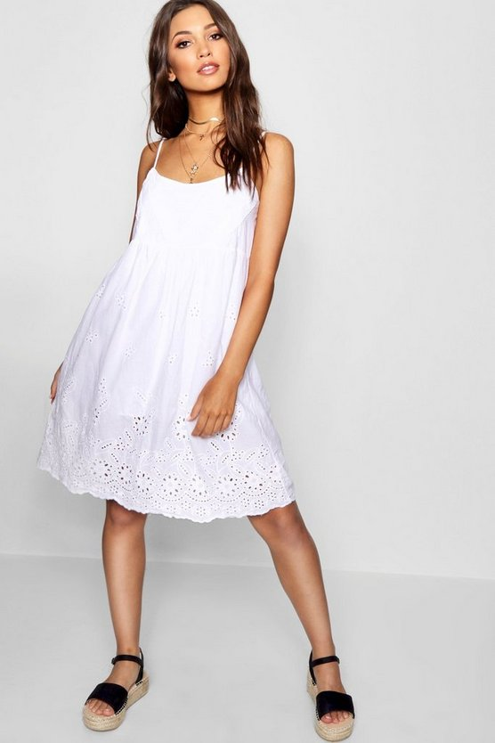 Broadrie Anglais Skater Dress