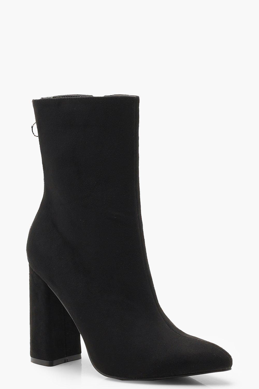 Купить Boots, Остроконечные сапоги-носки на квадратном каблуке, boohoo