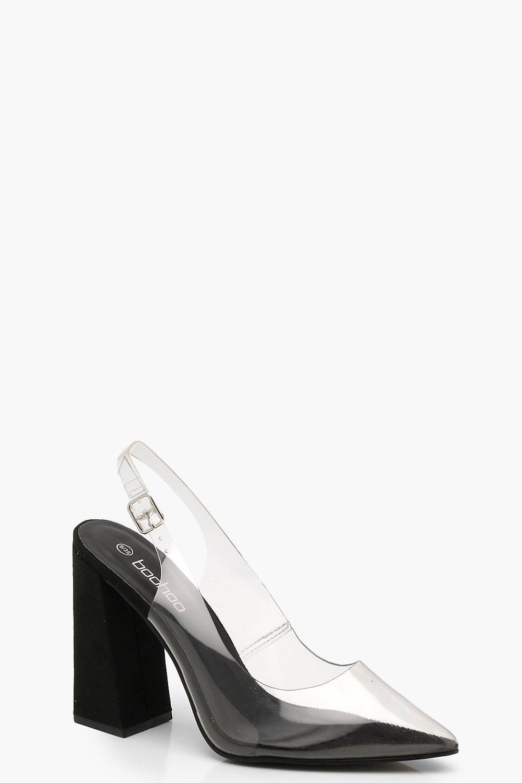 Купить Heels, Прозрачные на квадратном каблуке Shoes с остроконечным Court, boohoo
