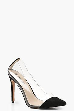 Asymmetric Clear Court Shoes
