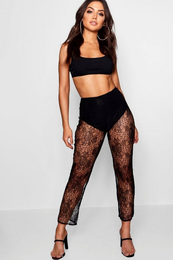 Lace Cropped Trousers