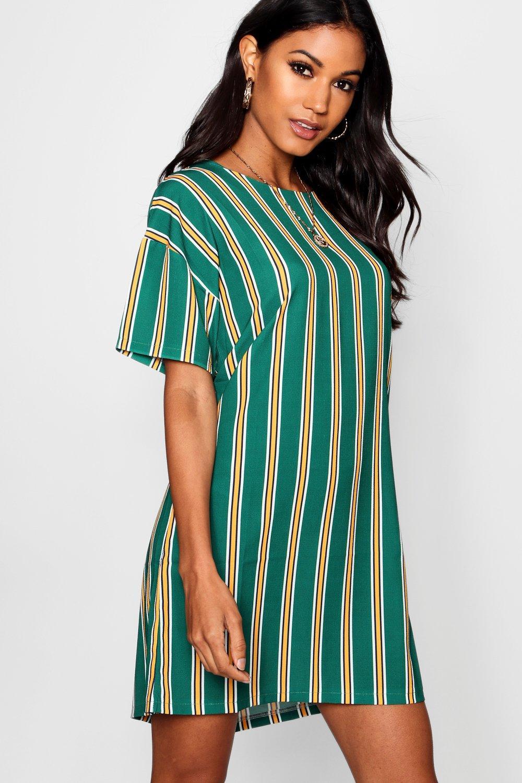 Купить Dresses, платье-футляр в яркую полоску и короткими рукавами, boohoo