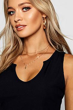 Chain Choker & Snake Layered Necklace