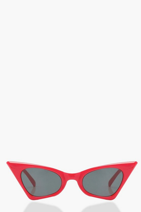 Red Extreme Pointed Retro Sunglasses