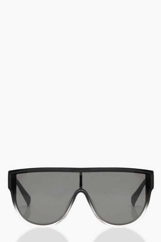Faded Lens Oversized Sunglasses